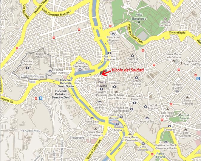 Roma Centro Cartina.Documento Senza Titolo